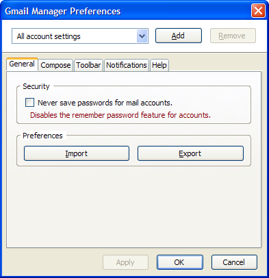 Windows 7 Gmail Manager 0.6.4.1 full